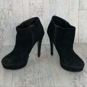 ALDO Black Suede High Heel Ankle Boots Booties 7.5